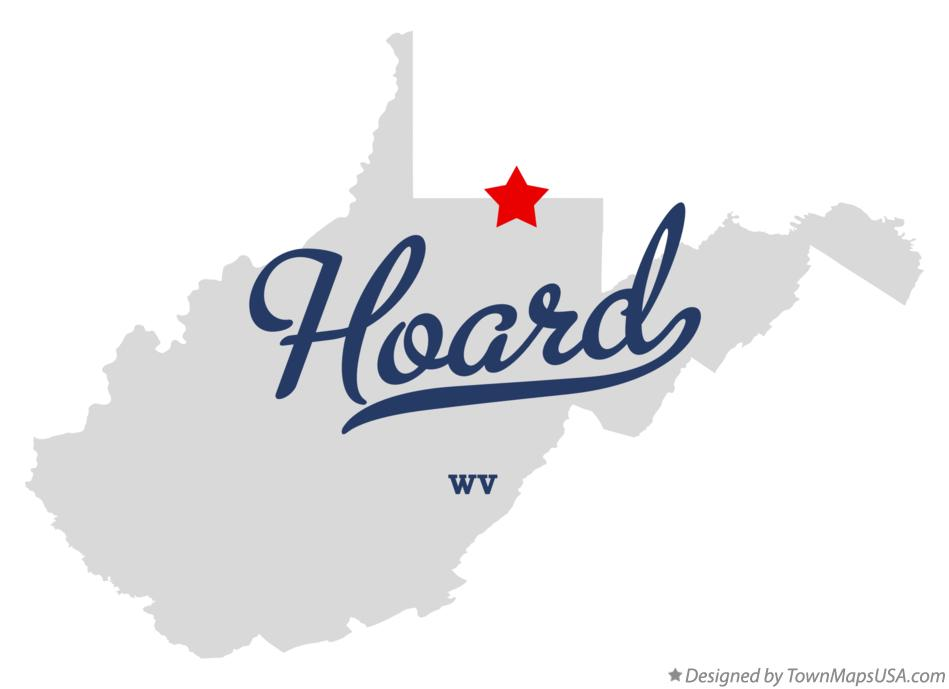 Map of Hoard West Virginia WV