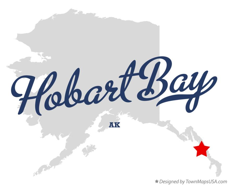 Map of Hobart Bay Alaska AK