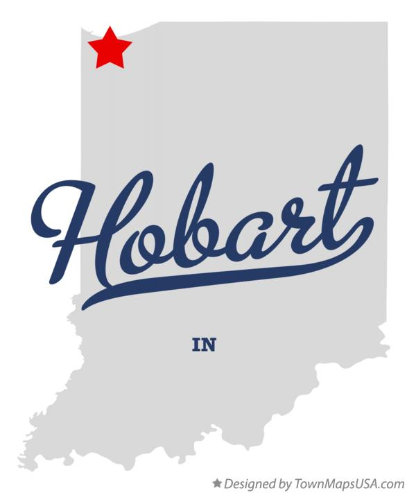 Map of Hobart Indiana IN