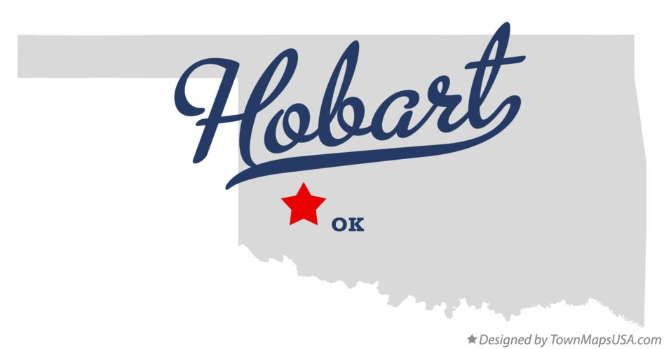 Map of Hobart Oklahoma OK
