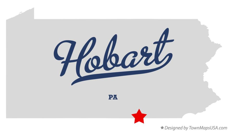 Map of Hobart Pennsylvania PA