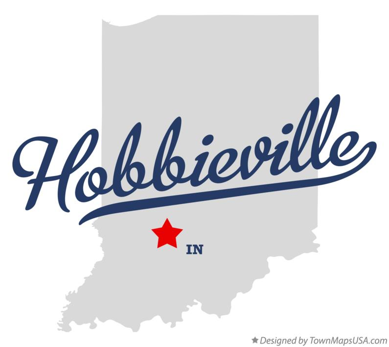 Map of Hobbieville Indiana IN