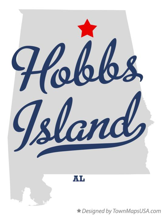 Map of Hobbs Island Alabama AL