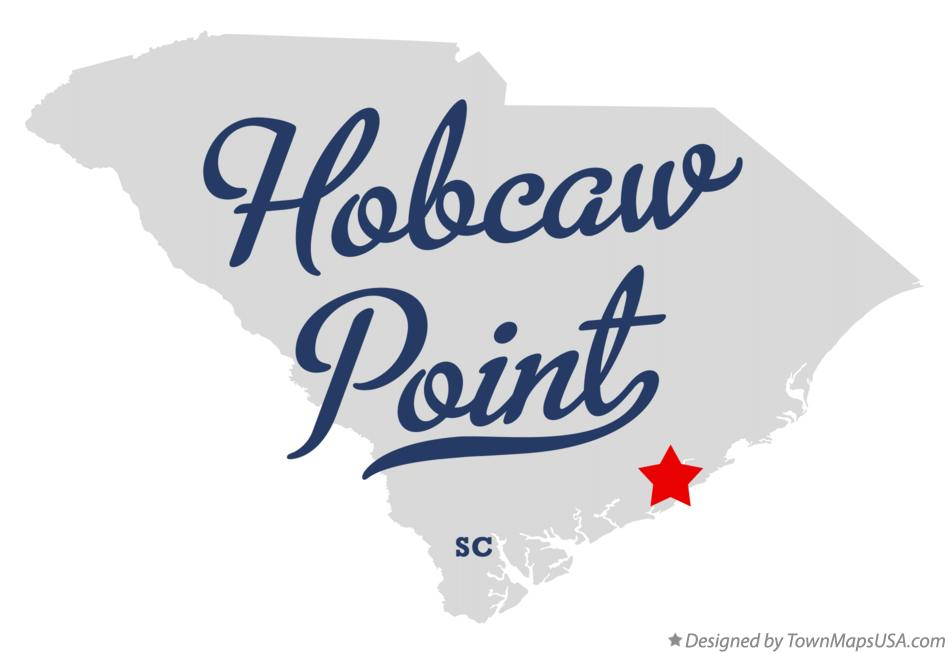 Map of Hobcaw Point South Carolina SC