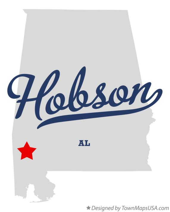 Map of Hobson Alabama AL