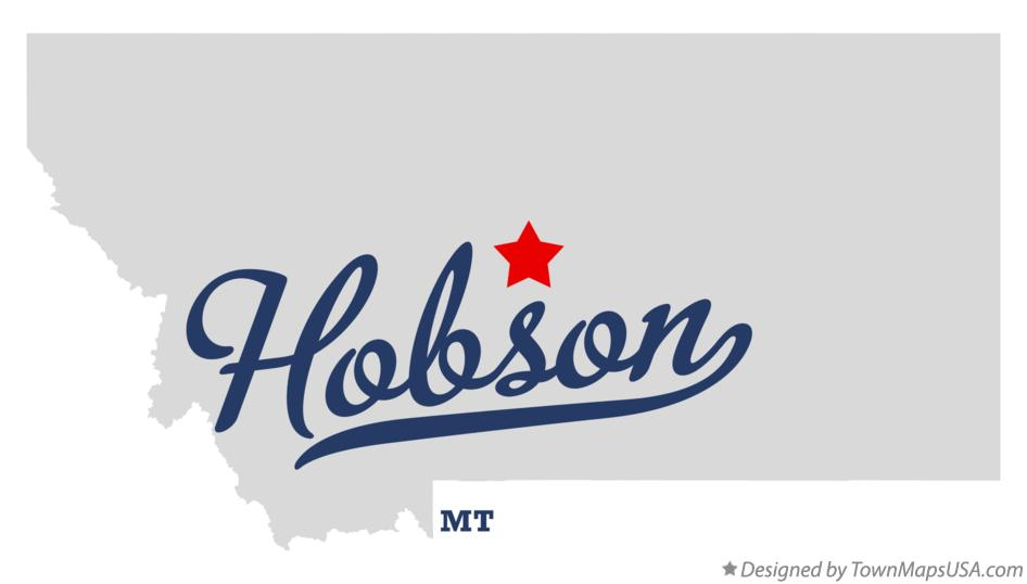 Map of Hobson Montana MT