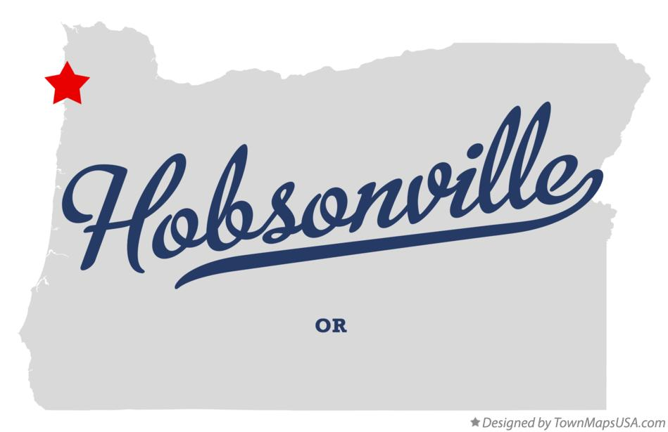 Map of Hobsonville Oregon OR
