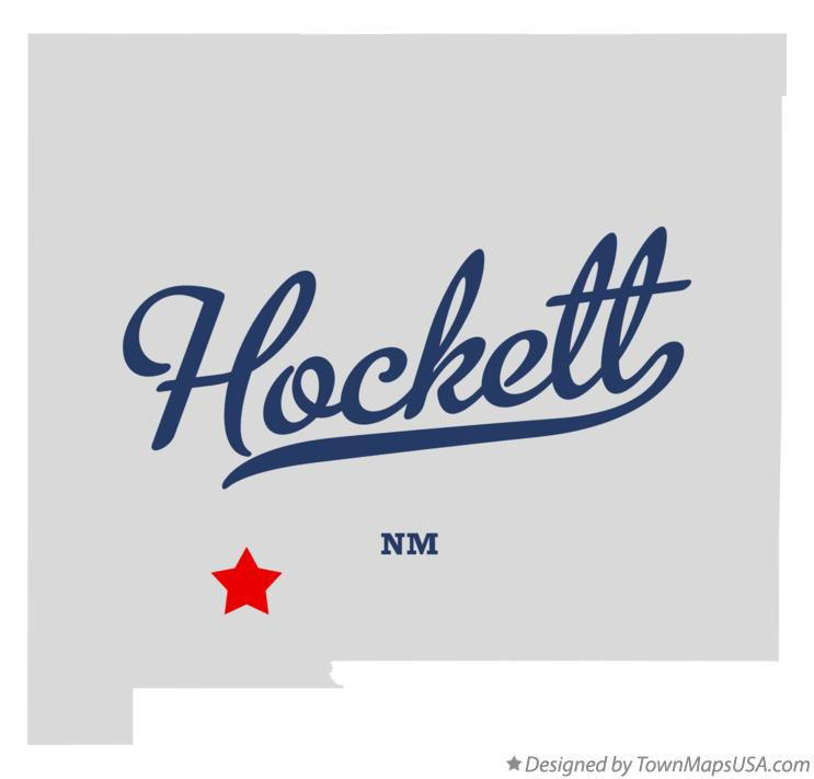 Map of Hockett New Mexico NM