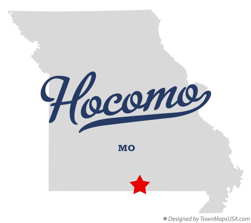 Map of Hocomo Missouri MO