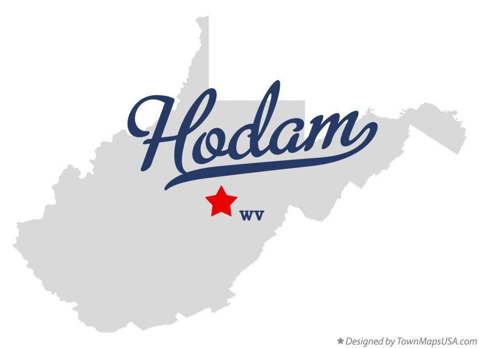 Map of Hodam West Virginia WV