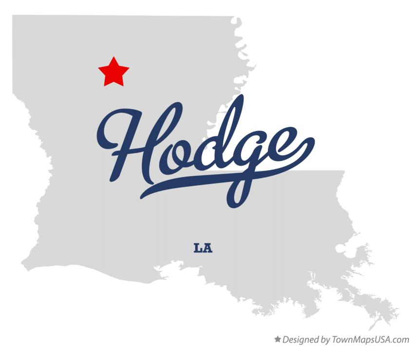 Map of Hodge Louisiana LA