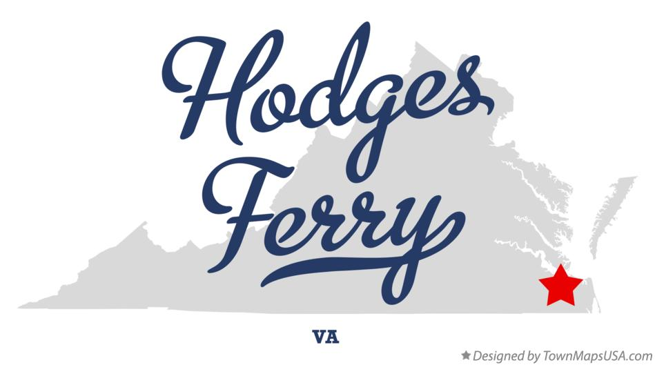 Map of Hodges Ferry Virginia VA