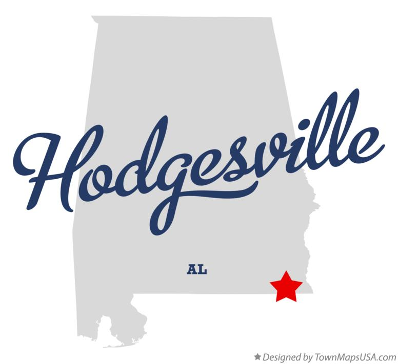 Map of Hodgesville Alabama AL