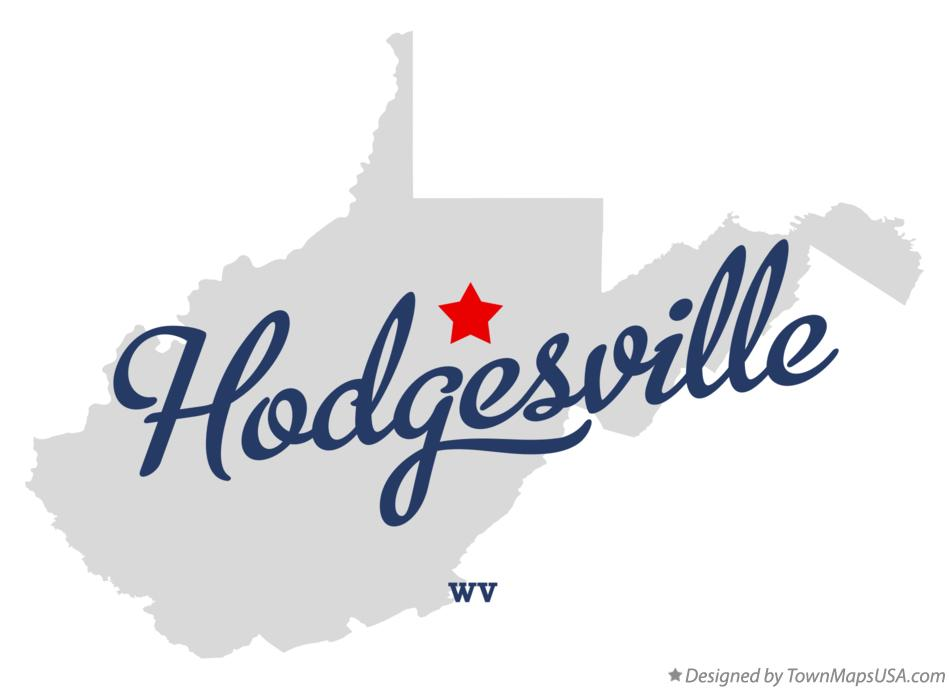 Map of Hodgesville West Virginia WV