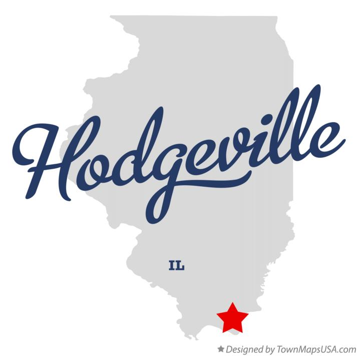 Map of Hodgeville Illinois IL