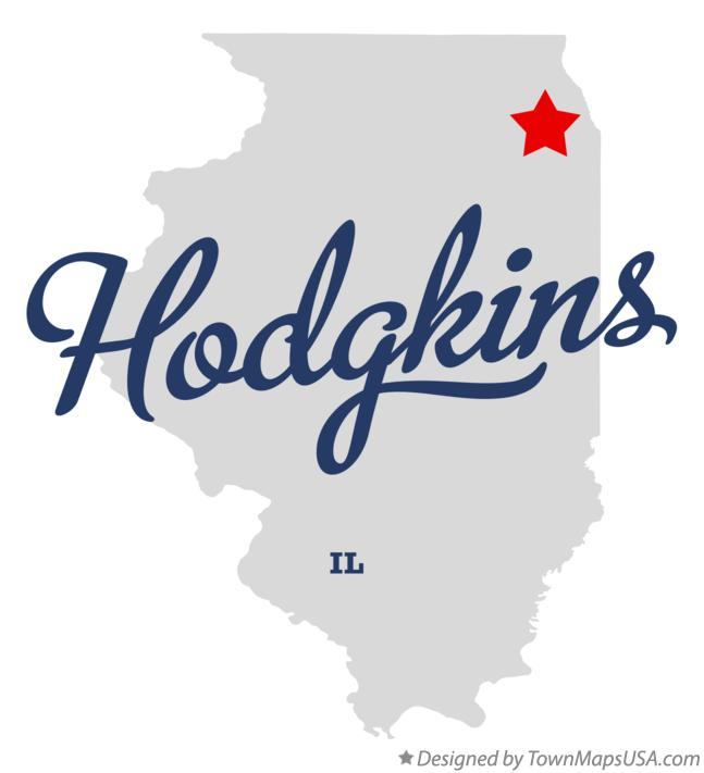 Map Of Hodgkins IL Illinois - Hodgkins il us map