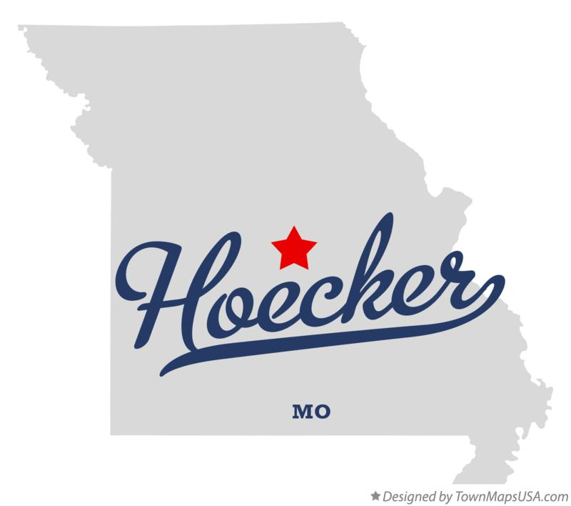Map of Hoecker Missouri MO