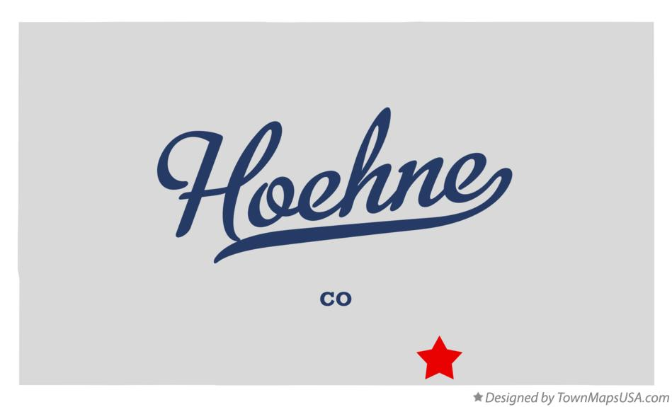Map of Hoehne Colorado CO