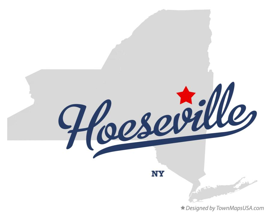 Map of Hoeseville New York NY
