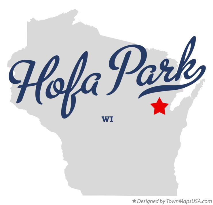Map of Hofa Park Wisconsin WI