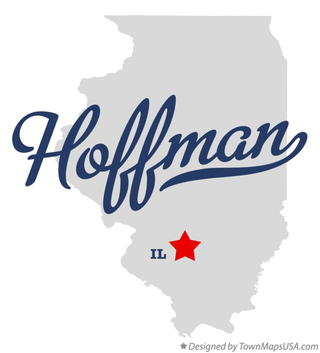 Map of Hoffman Illinois IL
