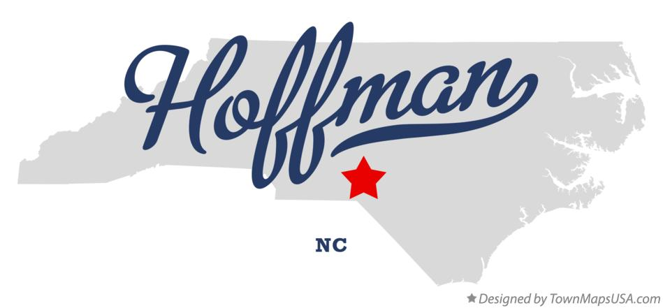 Map of Hoffman North Carolina NC
