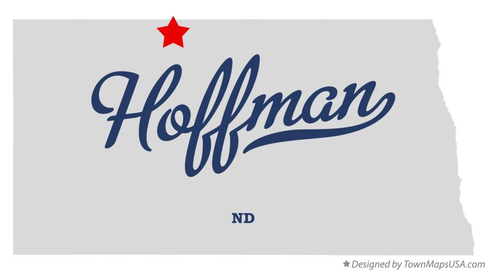 Map of Hoffman North Dakota ND