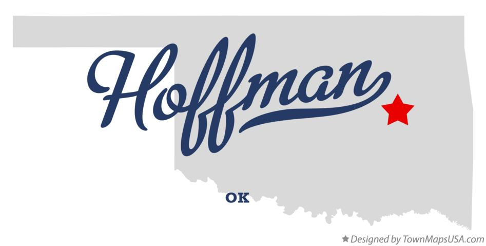 Map of Hoffman Oklahoma OK