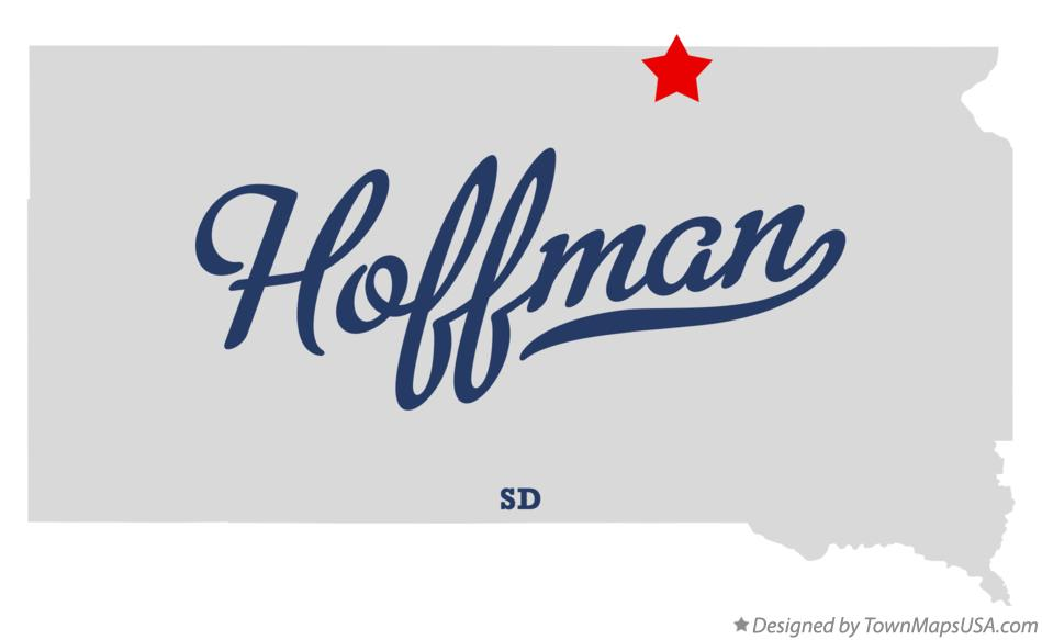 Map of Hoffman South Dakota SD