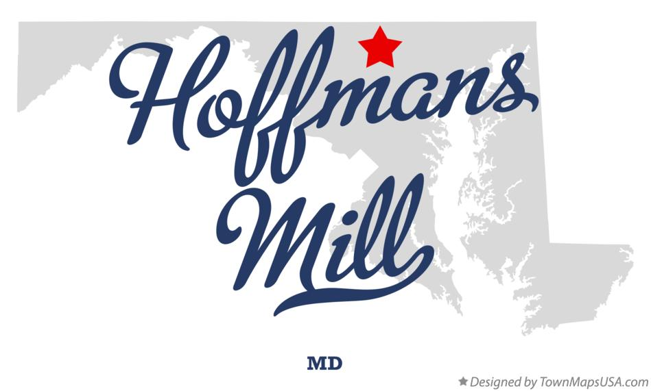Map of Hoffmans Mill Maryland MD