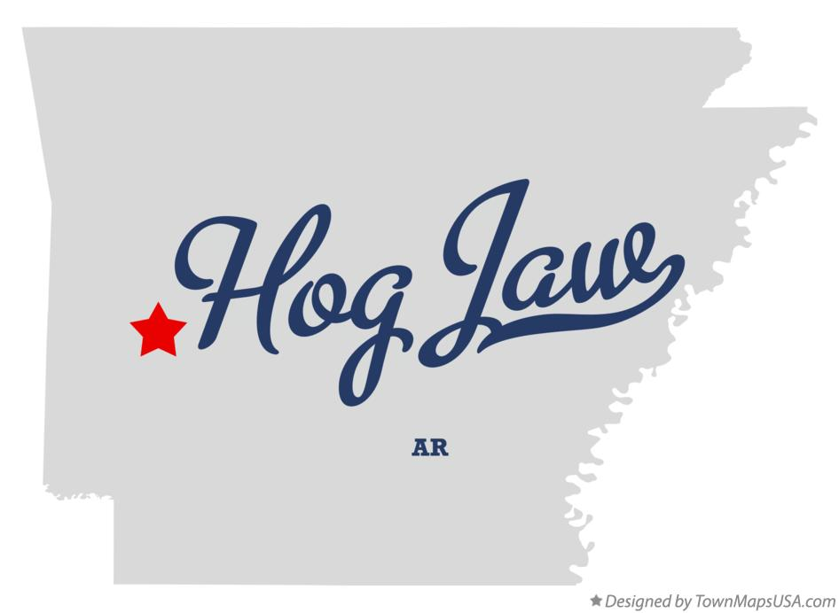Map of Hog Jaw Arkansas AR