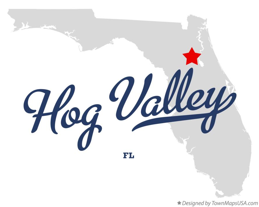Map of Hog Valley Florida FL