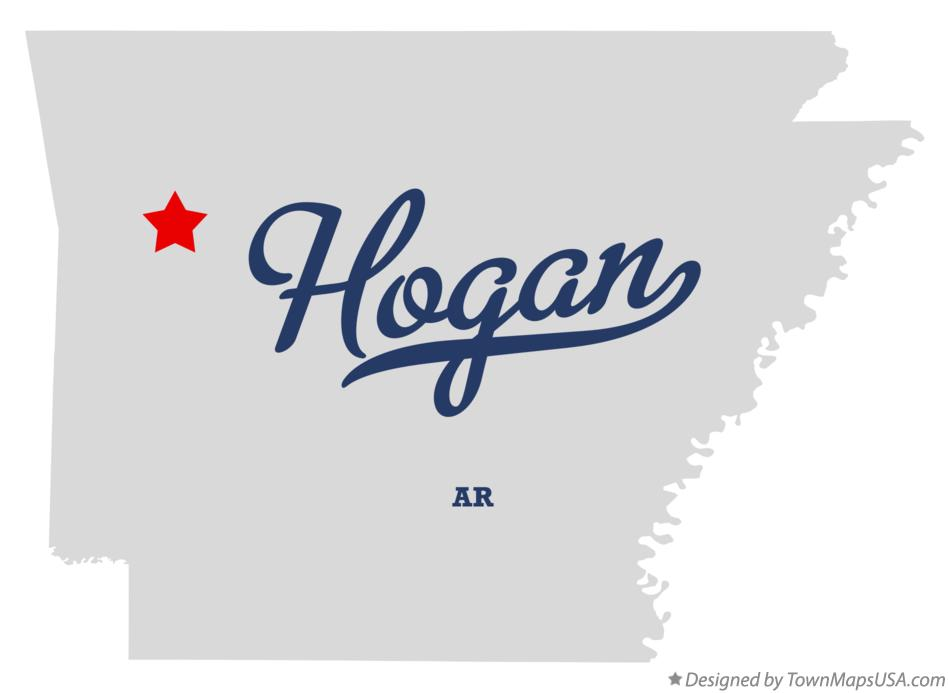 Map of Hogan Arkansas AR