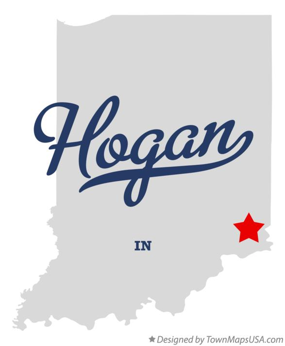 Map of Hogan Indiana IN