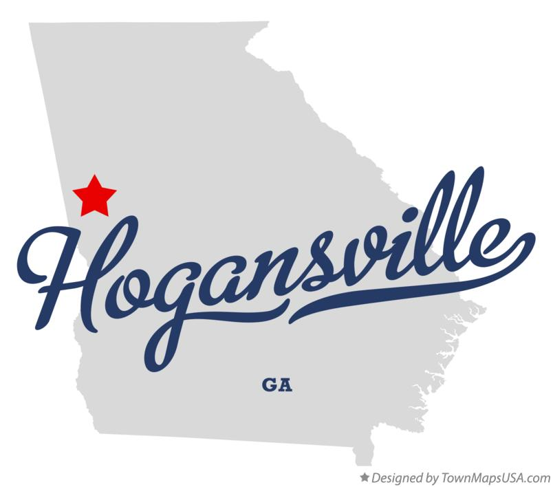 Map of Hogansville, GA, Georgia