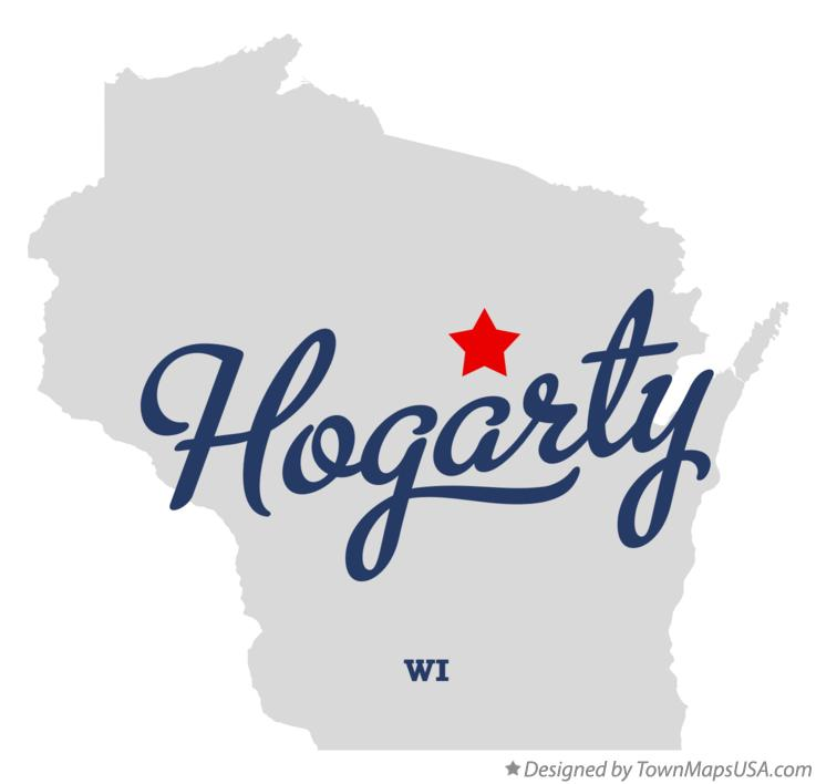 Map of Hogarty Wisconsin WI