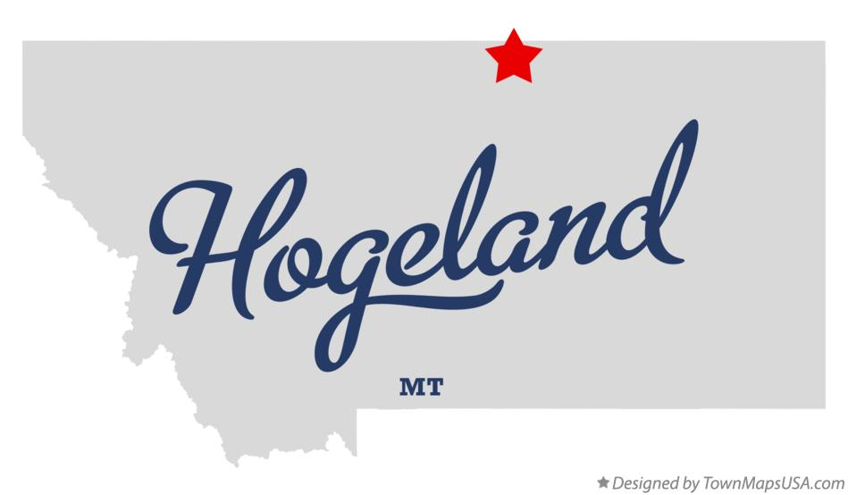 Map of Hogeland Montana MT