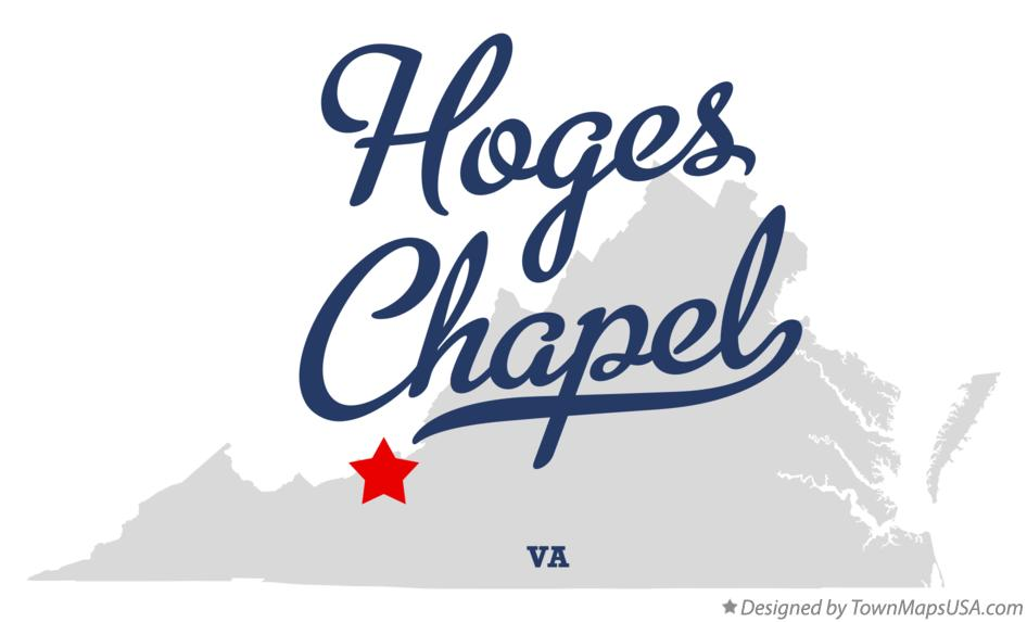 Map of Hoges Chapel Virginia VA