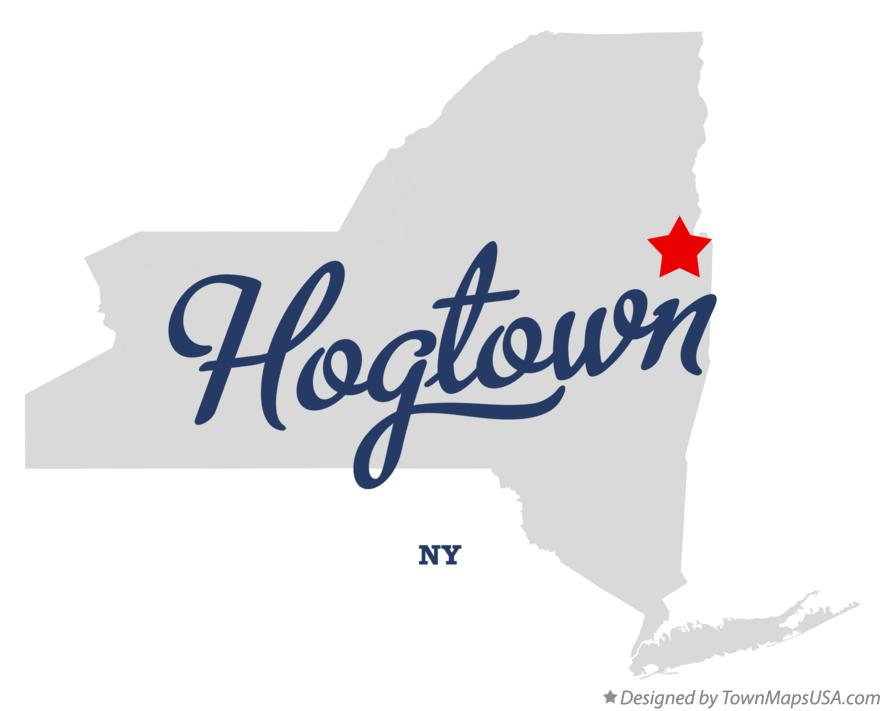 Map of Hogtown New York NY