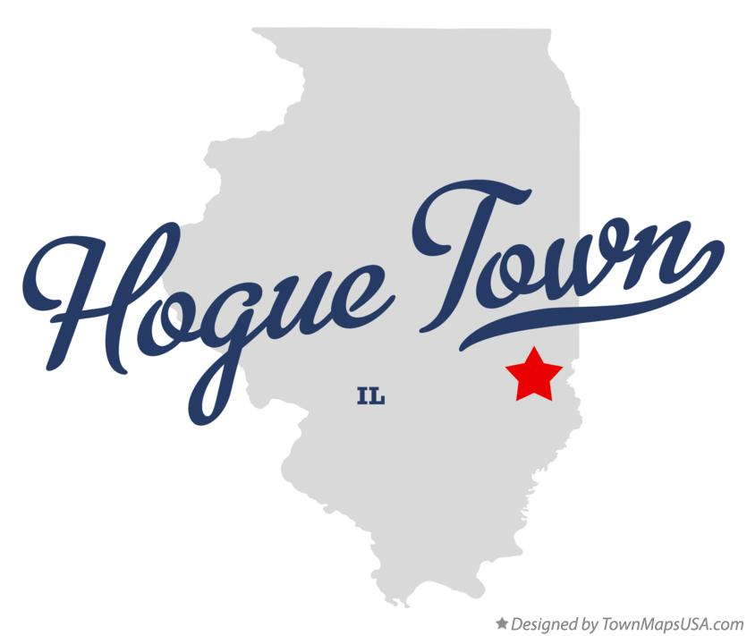Map of Hogue Town Illinois IL