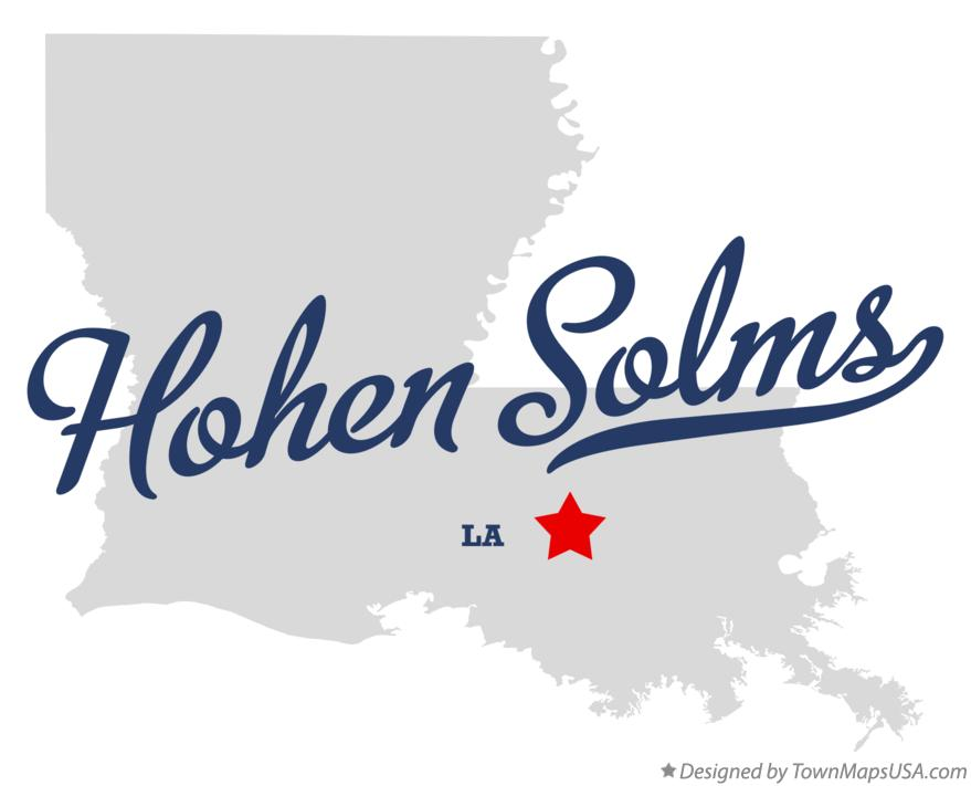 Map of Hohen Solms Louisiana LA