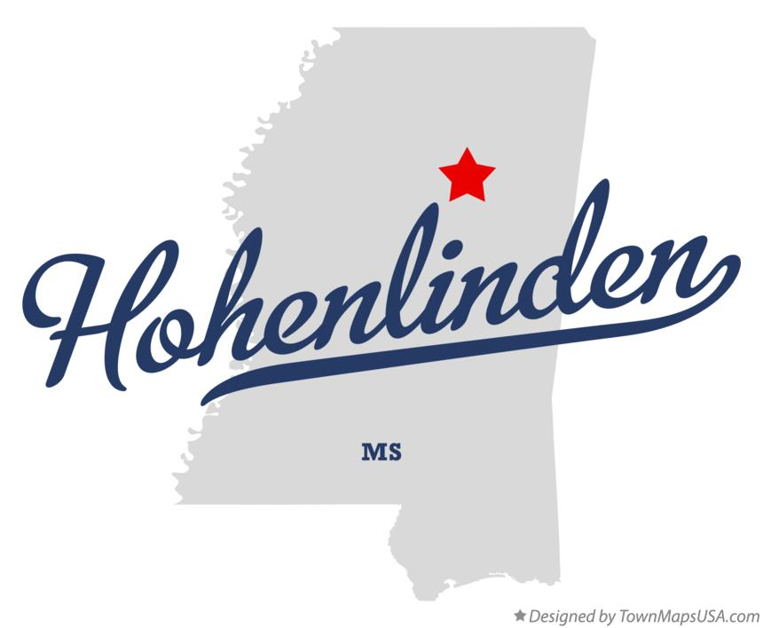Map of Hohenlinden Mississippi MS
