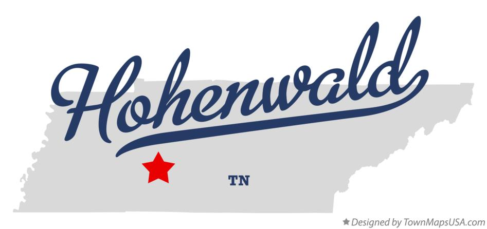 Map of Hohenwald Tennessee TN