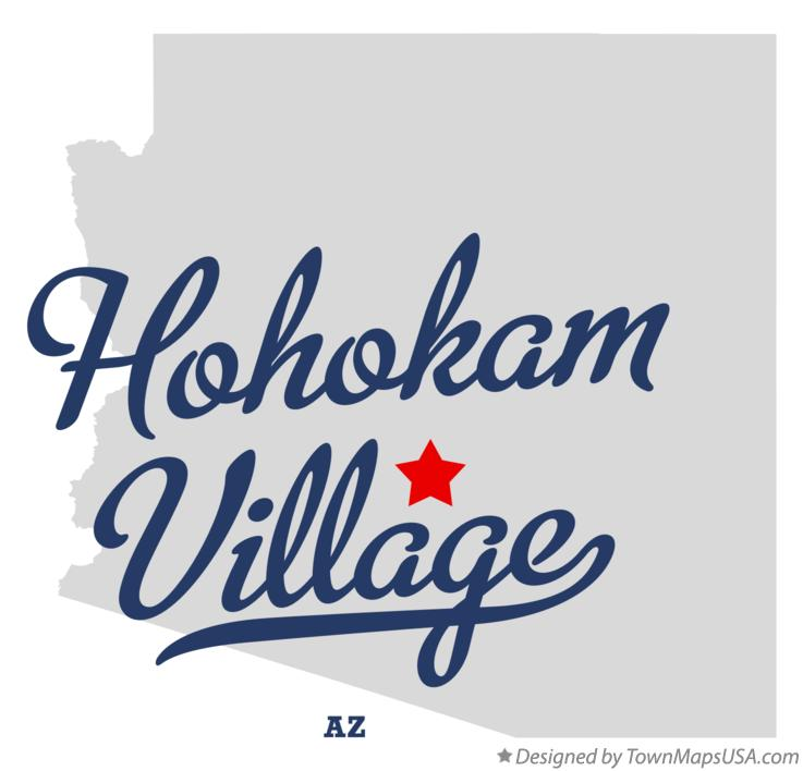 Map of Hohokam Village Arizona AZ