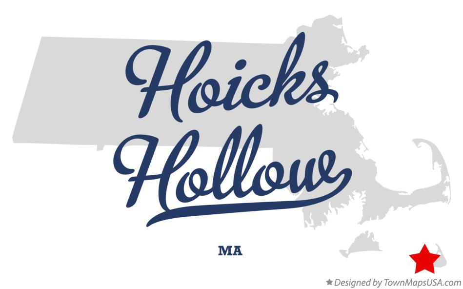 Map of Hoicks Hollow Massachusetts MA
