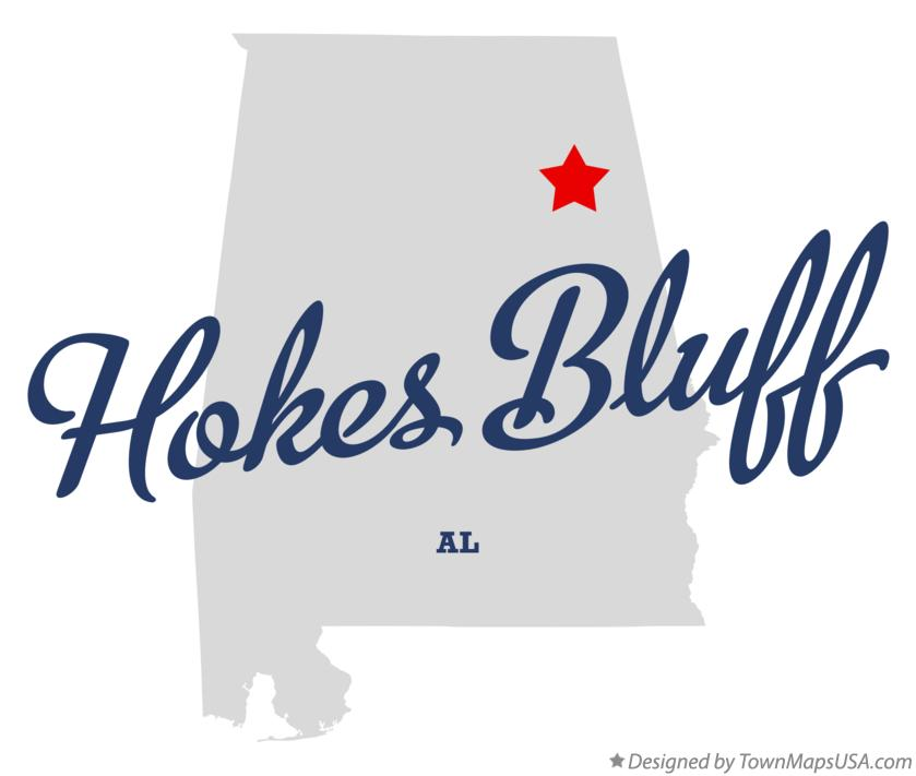 Map of Hokes Bluff Alabama AL
