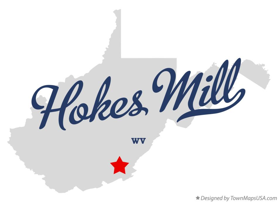 Map of Hokes Mill West Virginia WV