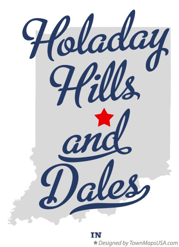 Map of Holaday Hills and Dales Indiana IN