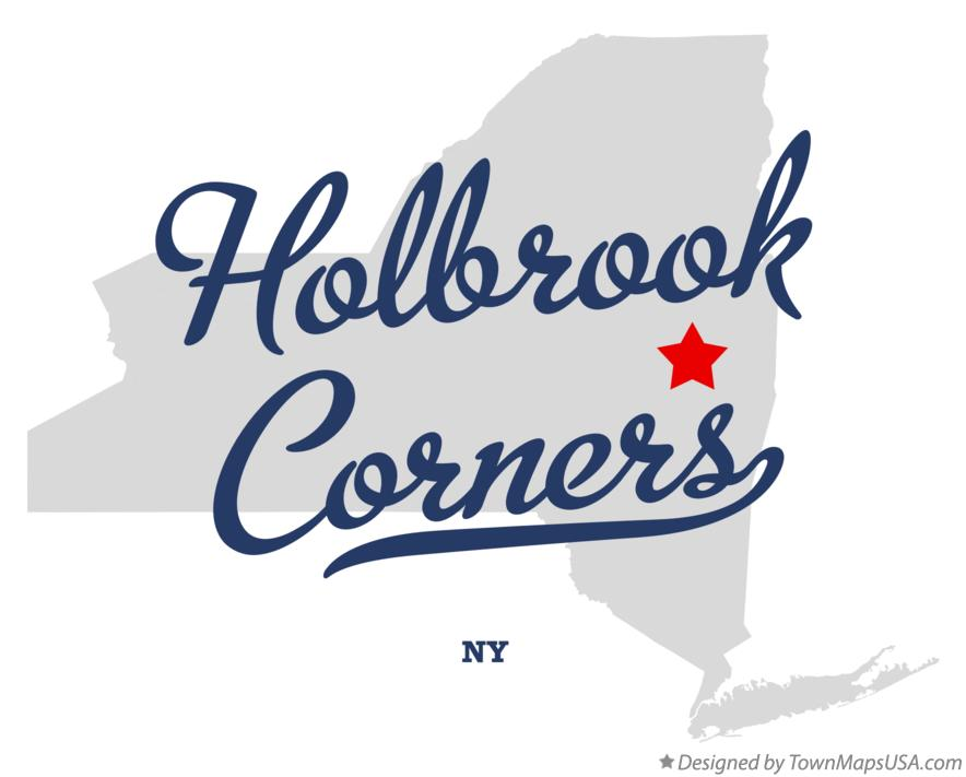 Map of Holbrook Corners New York NY