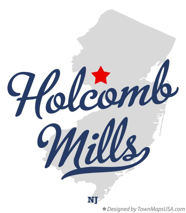 Map of Holcomb Mills New Jersey NJ